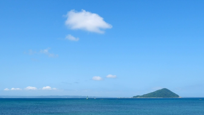 Landscape of the sea and the island | Shutterstock HD Video #1053072836
