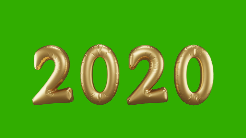 Golden foil balloons numbers 2020 Change to 2021 . New year concept, 3d illustration    Shutterstock HD Video #1053076811