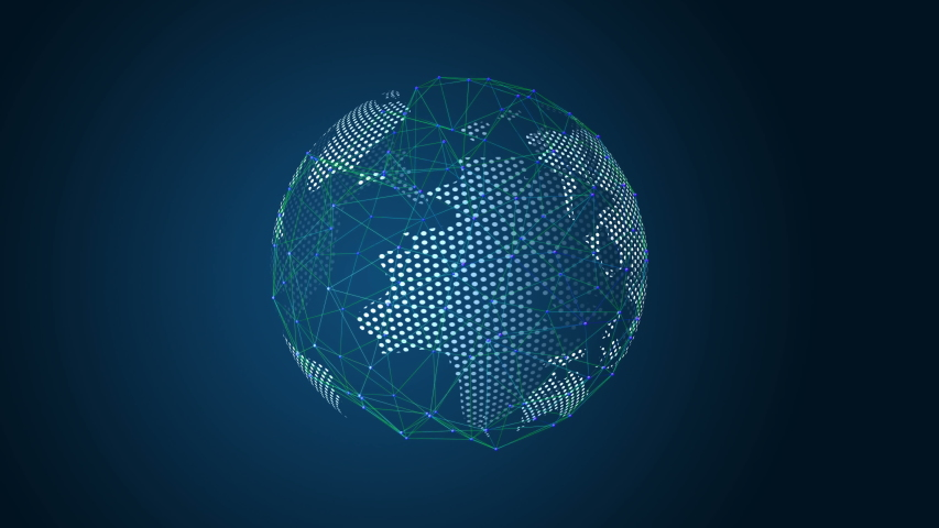 Global network. internet and connected concept   Shutterstock HD Video #1053076814