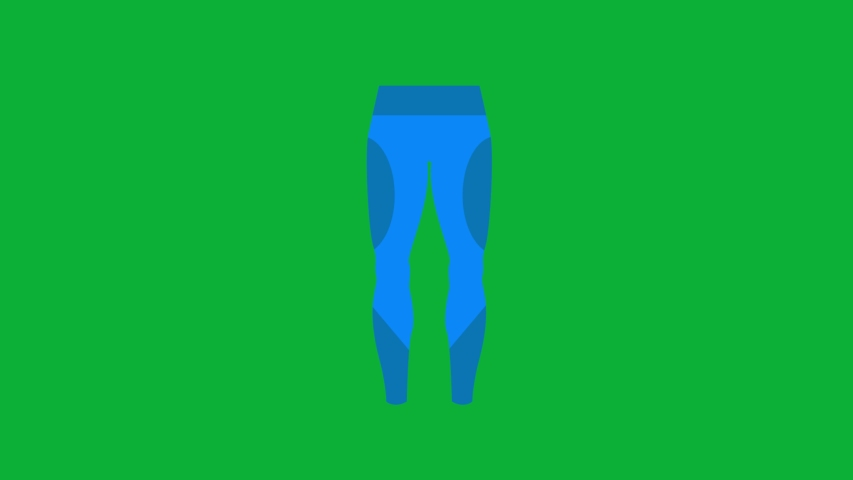 Ski Trouser Cartoon Vector 4K animation on Green screen - Blue trouser animated icon on Chroma key background  | Shutterstock HD Video #1053096515