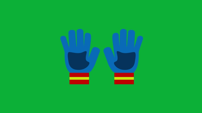 Ski Gloves Cartoon Vector 4K animation on Green screen - Blue Gloves Animated icon on Chroma key Background  | Shutterstock HD Video #1053098648