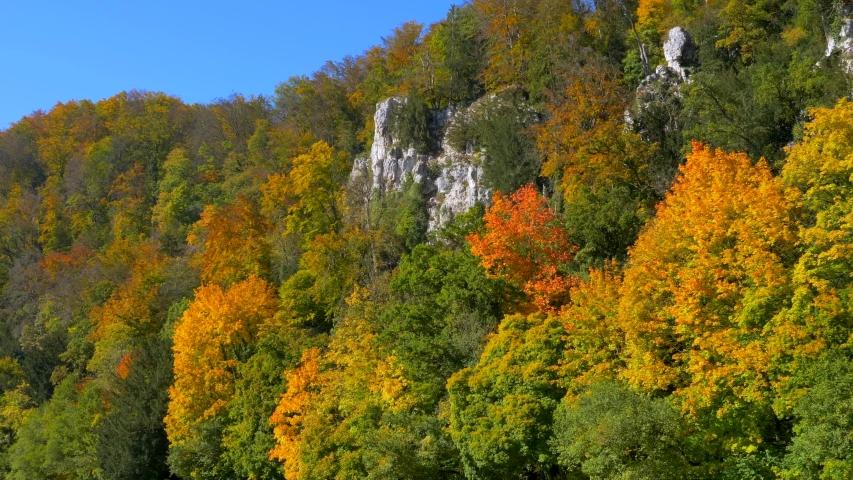 The Danube Valley at Weltenburg Monastery near Kelheim, Lower Bavaria, Bavaria, Germany, Europe | Shutterstock HD Video #1053117665