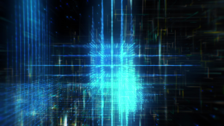 Technology Data Grid in Cyberspace | Shutterstock HD Video #1053127127