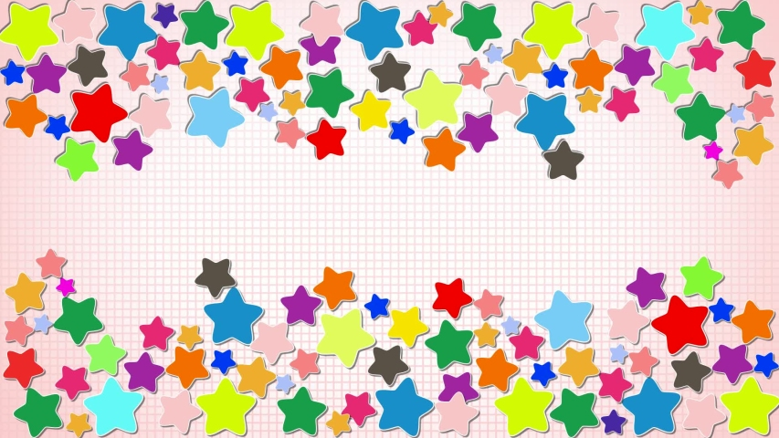 Colorful confetti stars on pink bg | Shutterstock HD Video #1053131192