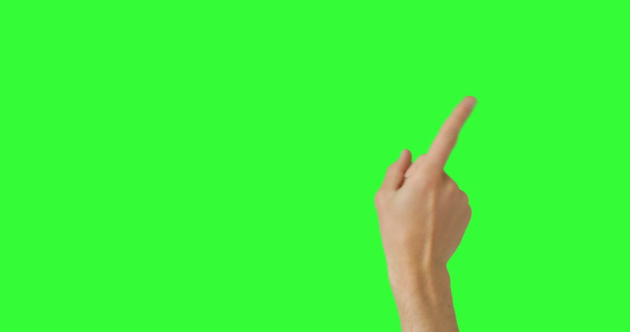 Isolated Man Hand Waving and Showing The No Sign by Index Finger, Reject Gesture Symbol. Green Screen Compositing. Pack of Gestures Movements on Keyed Chroma Key Background. Body Language.  | Shutterstock HD Video #1053135743