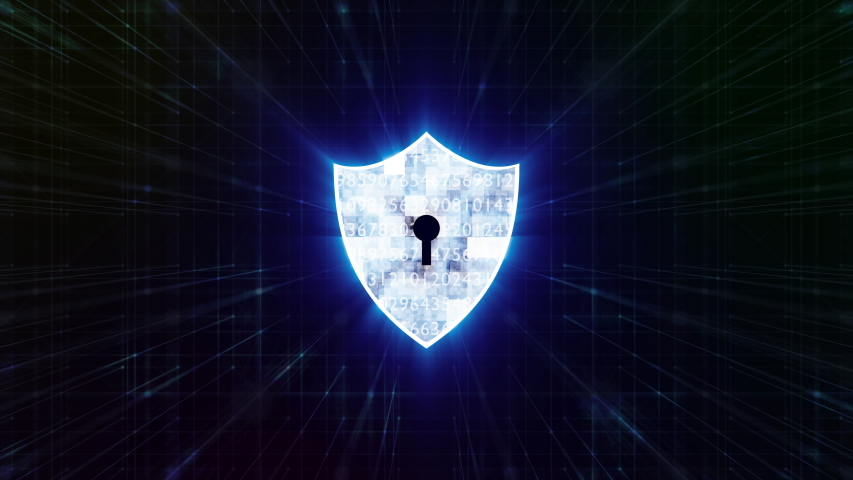 A blue security shield and firewall motion graphic on dot connection background, The security system for computer and network concept. | Shutterstock HD Video #1053148913