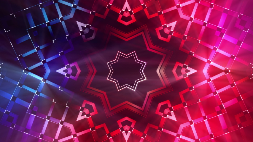 Glowing Futuristic Visual Loop. This seamless looping motion background features a vibrant and futuristic design with flickering light effects. | Shutterstock HD Video #1053156008