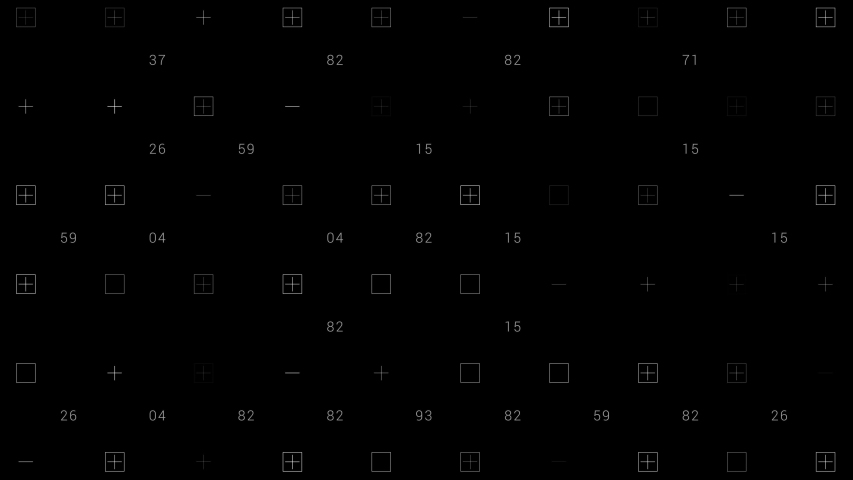 PNG Alpha.HUD elements grid.Shapes and numbers abstract technological animation.Animated SciFi texture background.Type 2 | Shutterstock HD Video #1053176900
