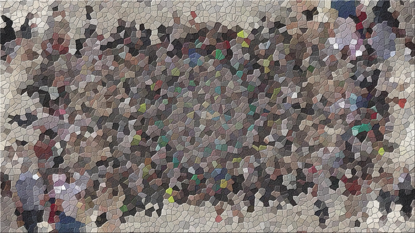 Flickering Mosaic Multicolored Tiles. Computer generated gradient solids. Perfect to use with music, backgrounds, transition and titles. | Shutterstock HD Video #1053178766