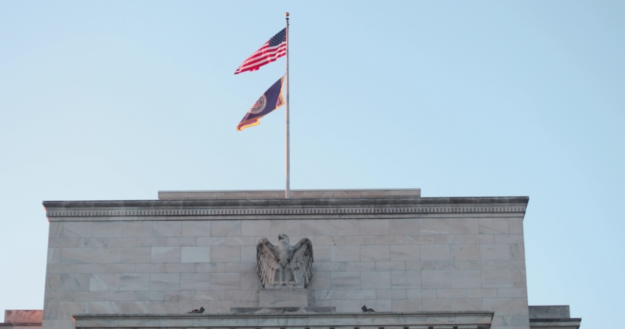 The Eccles Building in Washington, D.C. serves as the Federal Reserve System's headquarters. | Shutterstock HD Video #1053187796