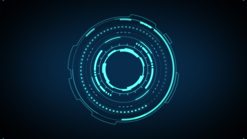 HUD circle interfaces, Hi-tech futuristic display, Hologram button, Loading,target, intro, alpha Royalty-Free Stock Footage #1053187847