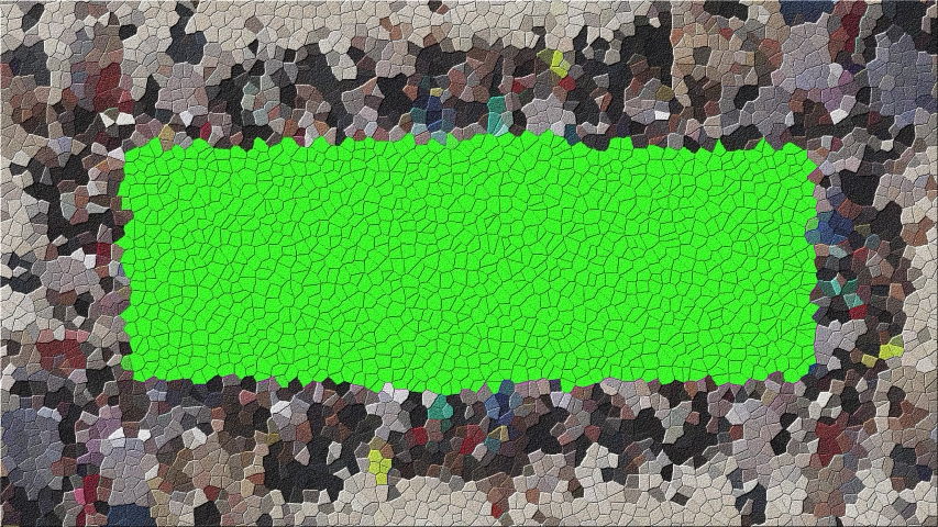 Green Screen Mosaic Title Plate. Computer generated gradient solids. Perfect to use with music, backgrounds, transition and titles. | Shutterstock HD Video #1053188537