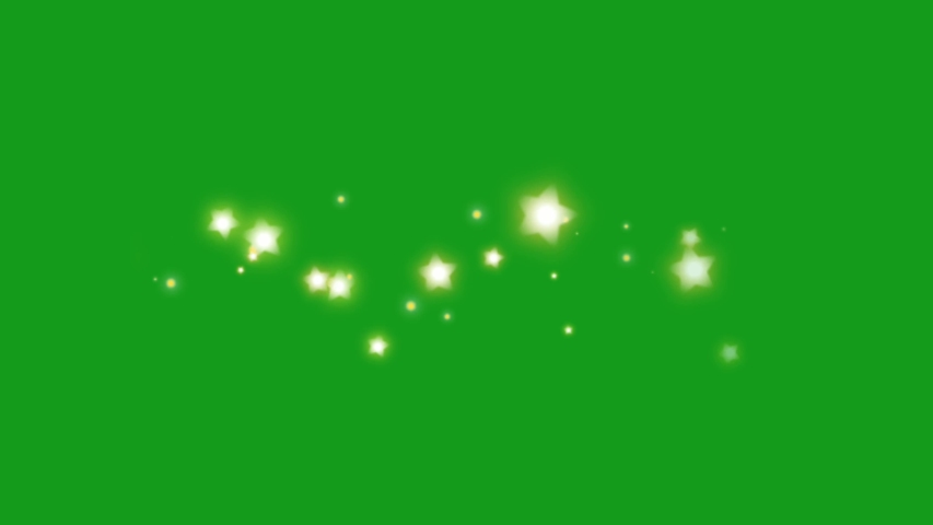 Shining star particles green screen motion graphics