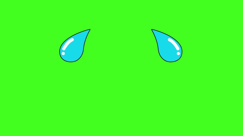 The video element of tears coming out of eyes on a green screen background. | Shutterstock HD Video #1053191366