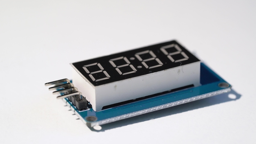 Electronic numerical digital display module for diy arduino components. | Shutterstock HD Video #1053192815