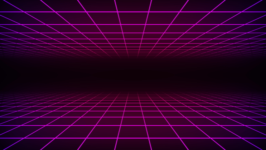 3d illustration 80s Retrowave Grid and Stars  | Shutterstock HD Video #1053196628