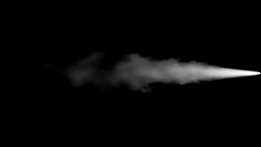 Steam Jet Pack. Jet physical effects.Black background easy for 2D, 3D and visual effects compositions lighten,screen,add. Usefull for rockets, jet pack, spaceships,industrial or futuristic enviroments | Shutterstock HD Video #1053205280