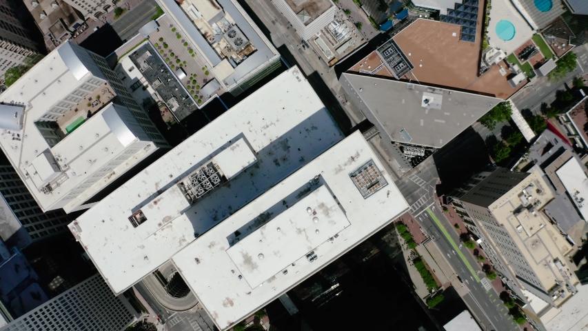 Afternoon Aerial Charlotte Uptown Skyline