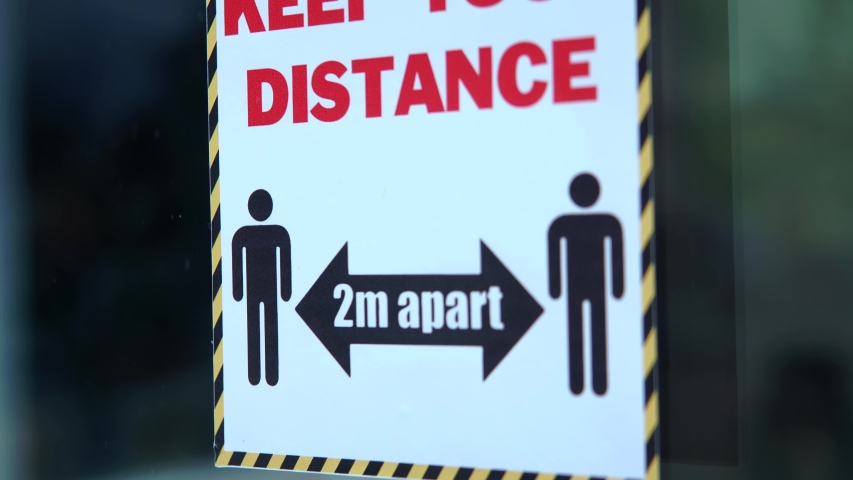 Social Distancing 'Keep Your Distance' Sign, 2 Metres Apart.