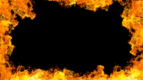 Fire Flames Realistic Close Up. 3D rendering.This clip have alpha chaneel place on footage or background.Clip loop animation.