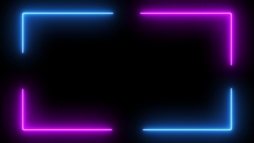 Neon glow color moving seamless art background abstract motion screen 4k
