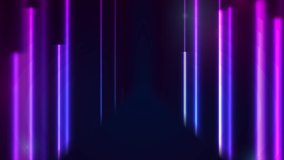 Blue and purple neon laser lines abstract futuristic motion background. Video animation Ultra HD 4K 3840x2160