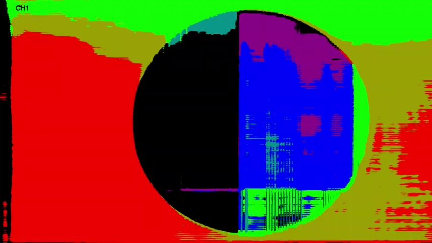 4K Analog Video Art Multicolor Abstract Shapes & Signal Noise Feedback Manipulation | Shutterstock HD Video #1053330302