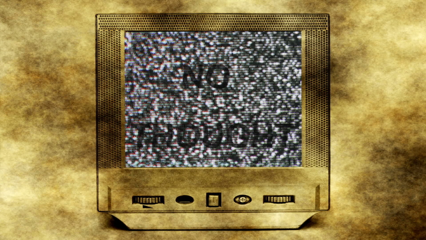 No thoughts text on old vintage tv set | Shutterstock HD Video #1053337232