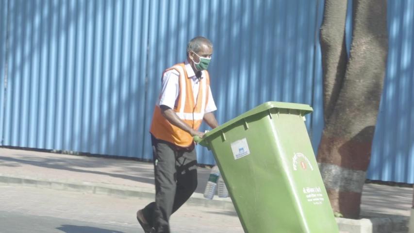 Mumbai, Maharashtra/India- May 2020: India Sanitation Worker