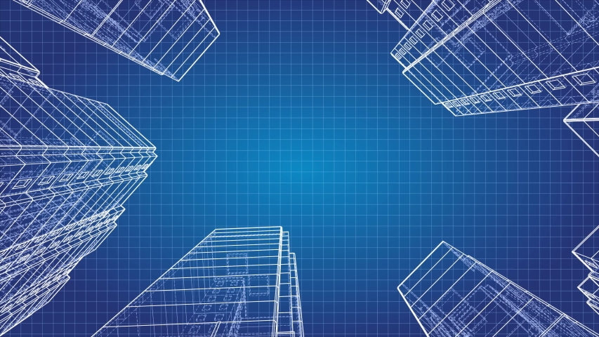 Skyscrapers Growth Animation. Wire-frame model of a multi-storey residential building. Empty place for your text or logo. 4K resolution | Shutterstock HD Video #1053372026