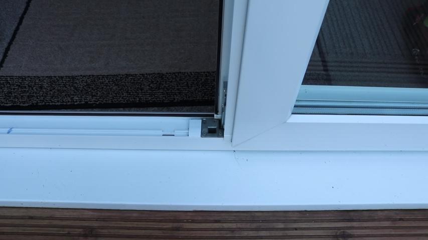 Cleaning window frame in a modern home  | Shutterstock HD Video #1053392387