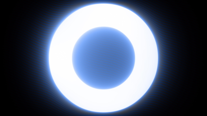 Blue Gradient Light Circle Rotation Surface Loop Neon Abstract Background | Shutterstock HD Video #1053397586