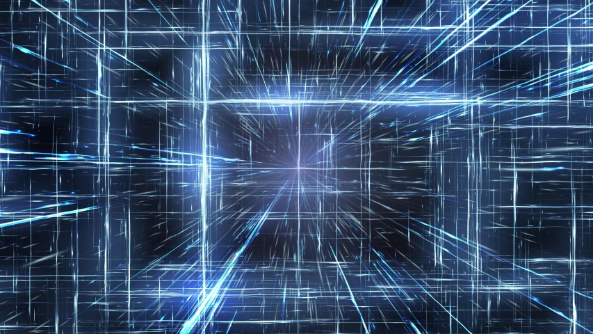 Geometrix Dimension Grid with Spining  Lines Inside   Shutterstock HD Video #1053399911