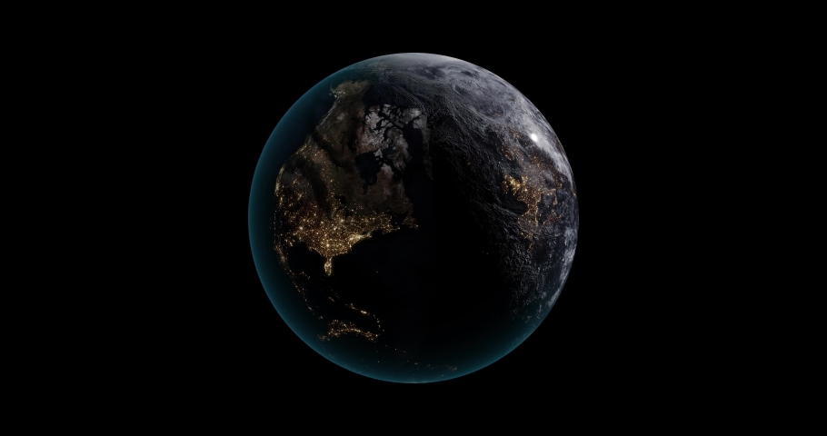 Animation of Planet Earth spin. Elements of this media furnished by NASA.  | Shutterstock HD Video #1053403499