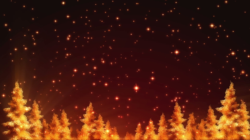 Glowing Christmas Background Loop. This seamless looping Christmas background shows abstract golden trees and falling glowing stars. | Shutterstock HD Video #1053413570