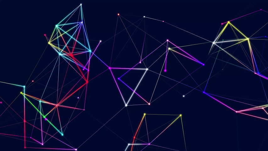 Abstract digital connection moving dots and lines. Technology background. Network connection structure. 3d. Seamless loop. 4K | Shutterstock HD Video #1053423929
