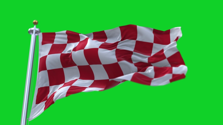 4k Checkered Race Flag Check Flag wavy silk fabric fluttering Racing Flags,seamless looped waving green background.Silk cloth fluttering in wind.3D digital animation plaid Formula One car motor sport.
