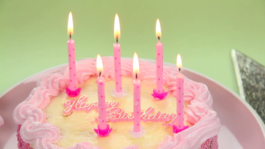 Fine A Beautiful Cake With Light Candles To Blow Out Wishing You A Happy Personalised Birthday Cards Veneteletsinfo