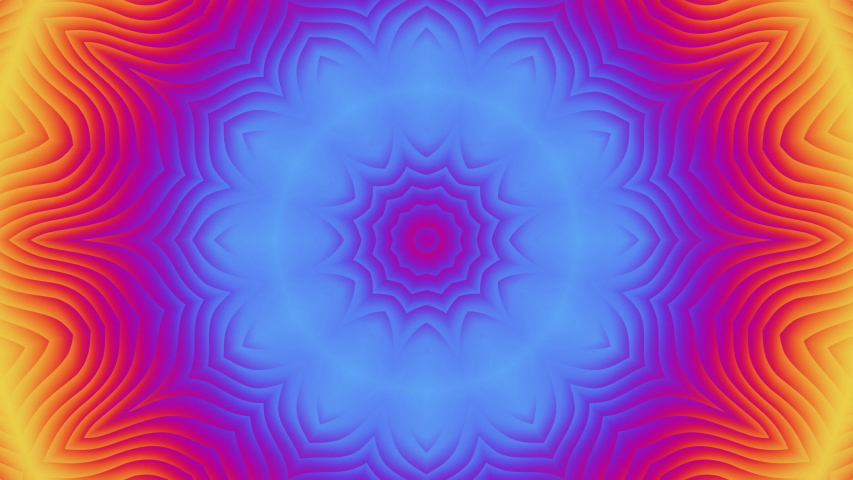 Abstract multicolored optical visualization movement equalizer flower light background digital animation bright rotating colorful symmetric kaleidoscope seamless loopable backdrop | Shutterstock HD Video #1053446516