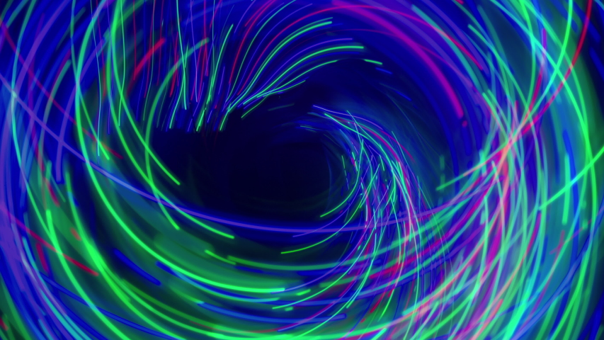 Abstract light motion patterns made from coloured lights and leds | Shutterstock HD Video #1053472742