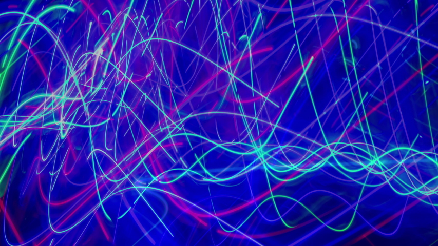 Abstract light motion patterns made from coloured lights and leds | Shutterstock HD Video #1053472745