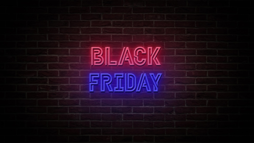 High Quality Black Friday sale neon sign banner background for promo video. concept of sale and clearance. 4K Video | Shutterstock HD Video #1053511400