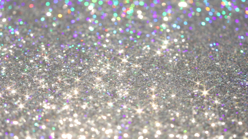 Shiny glitter Star-shaped. Polarization pearl sequins #6 | Shutterstock HD Video #1053516251