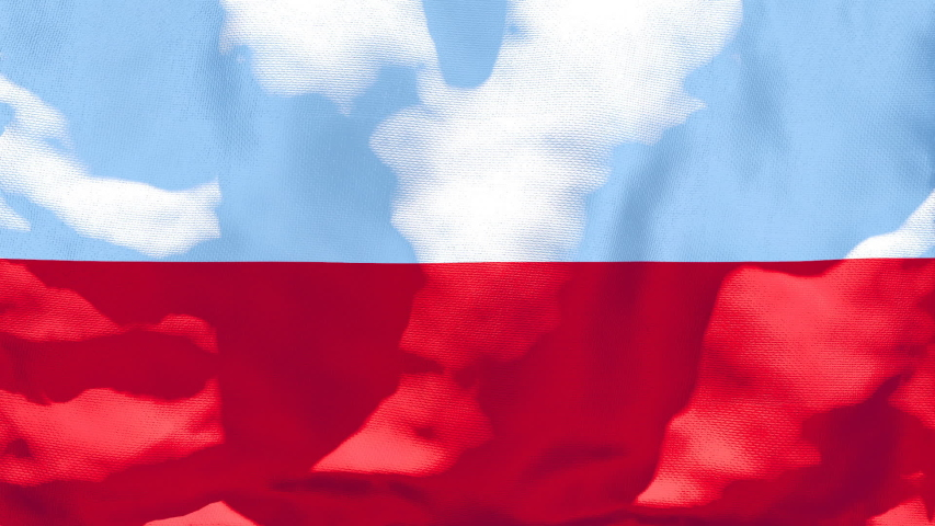 The national flag of Poland is flying in the wind | Shutterstock HD Video #1053517724