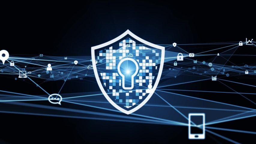 Network security concept animation. Cyber security. Antivirus software. Firewall. | Shutterstock HD Video #1053517958