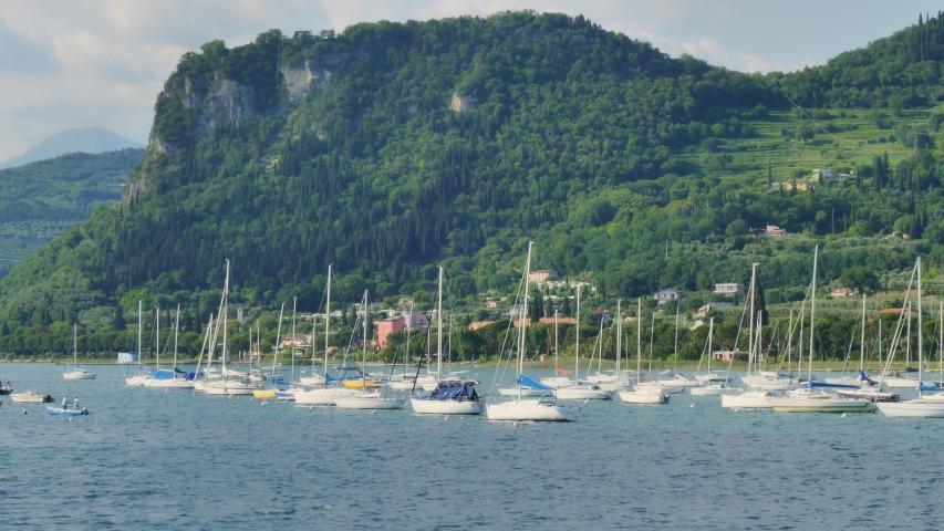 Idyllic Landscape On Garda Lake Verona | Shutterstock HD Video #1053518207