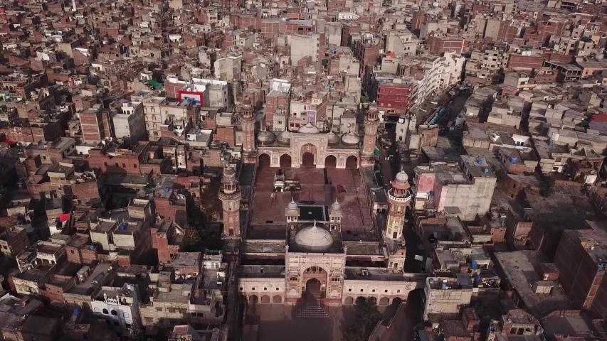 Wazir Khan mosque in Dehli Gate walled city of Lahore | Shutterstock HD Video #1053524966