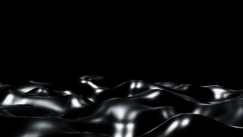 Black liquid wave luxury premium pattern flying into digital technologic animation 3D rendering | Shutterstock HD Video #1053535697