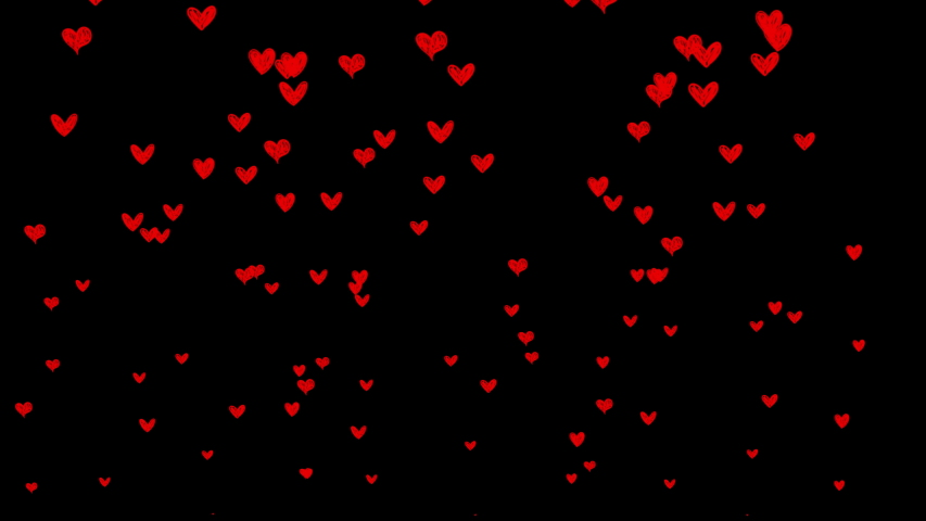 Sketchy hand drawn social media animated hearts on alpha matte for chromakey. 4K 2D animation.  | Shutterstock HD Video #1053536570