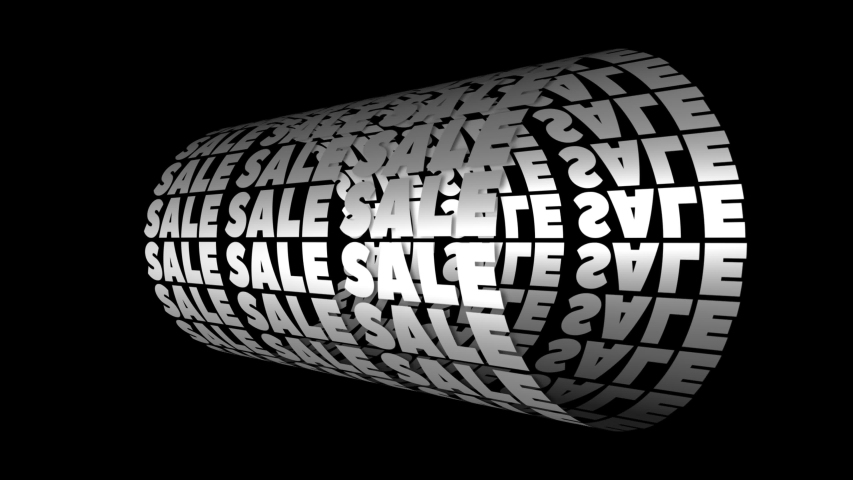 Sale typography . Sale Loop Animation. Advertising Animated Banner. Kinetic Typography Animation. Kinetic Style Black Friday Background